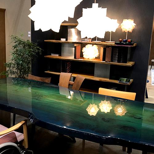 ケヤキ ピアノ塗装テーブル