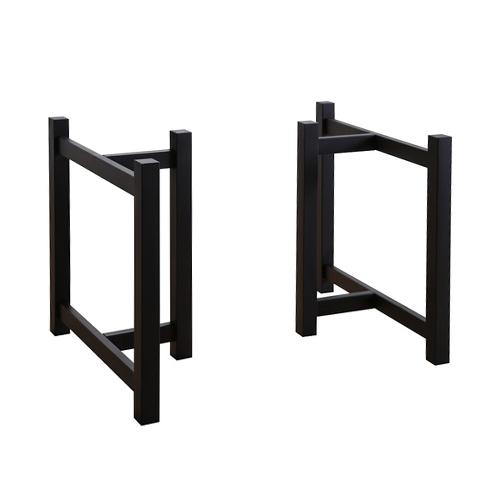 木製T字脚H(幅600)ブラック