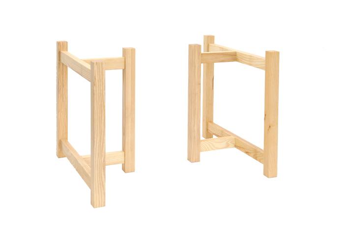木製T字脚H(幅500)ナチュラル