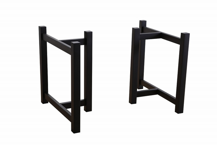 木製T字脚Hブラック(幅500、600、700から選べます)